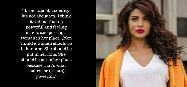 Priyanka Chopra on the power politics of men