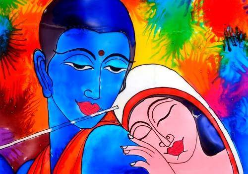 Satyabhama was haughty and high-spirited and had very little interest in men until she met Krishna