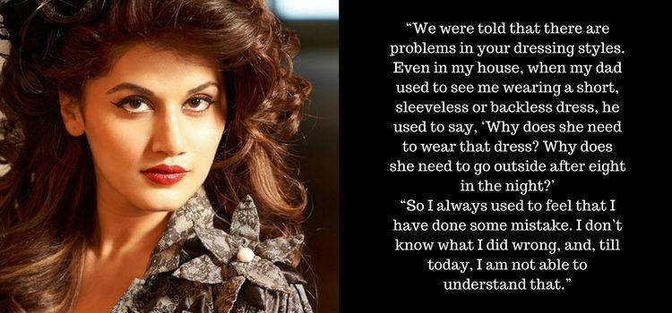Taapsee Pannu speaks on victim shaming