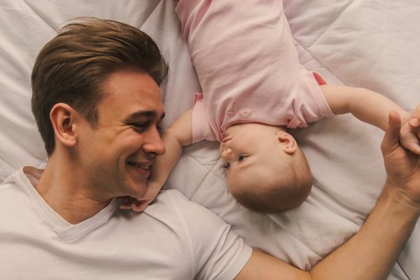 dad with cute baby