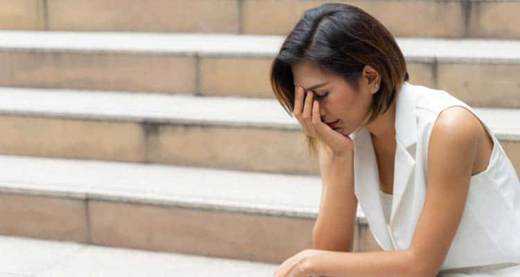 Clinically depressed woman
