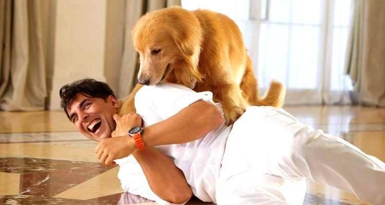 Akshay with dog