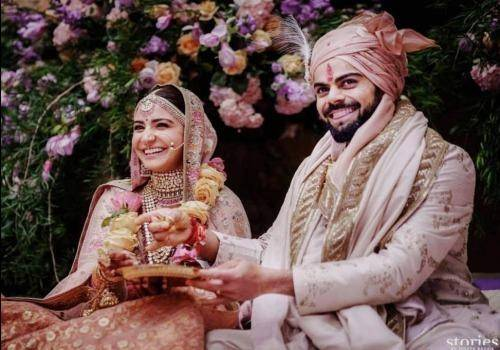 Anushka and virat in wedding