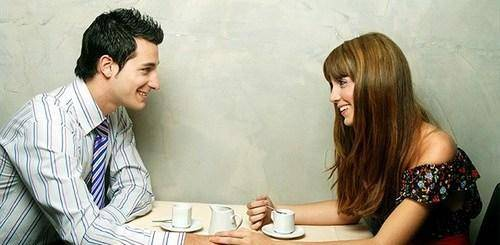 Look into her eyes while talking to an attractive lady