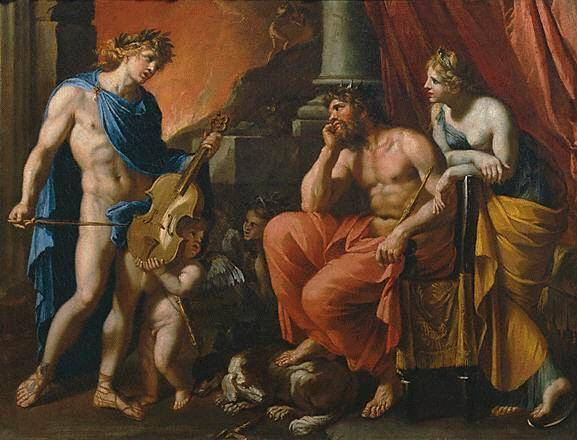 Orpheus plays for Hades