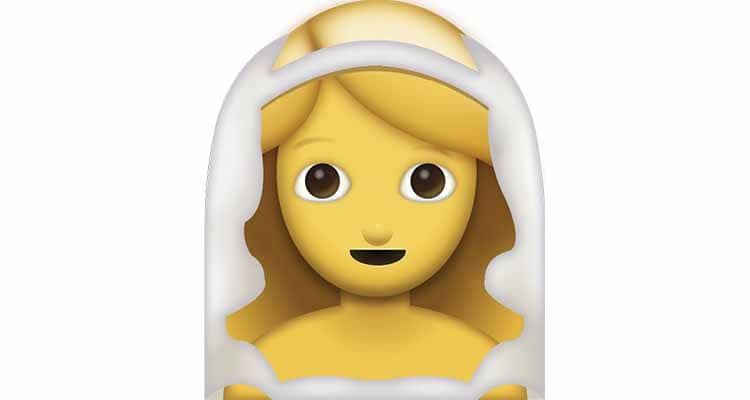 the bride emoji is something guys like and use to propose