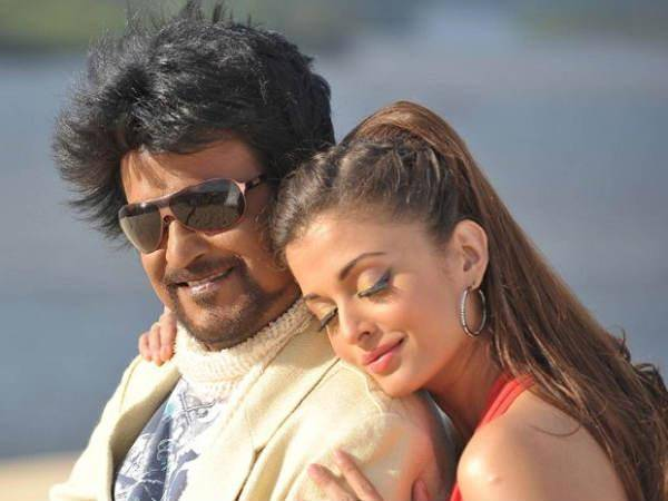 Rajnikant with aishwarya