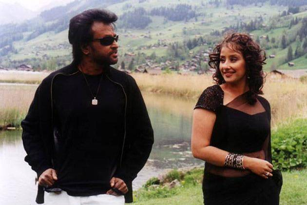 Rajnikant with Manisha