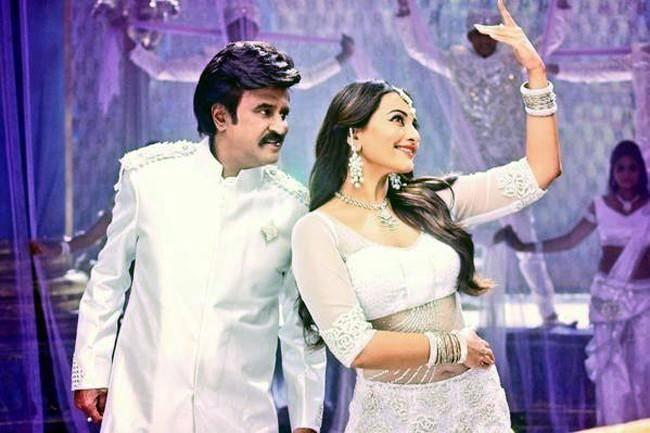 Rajnikant with Sonakshi sinha