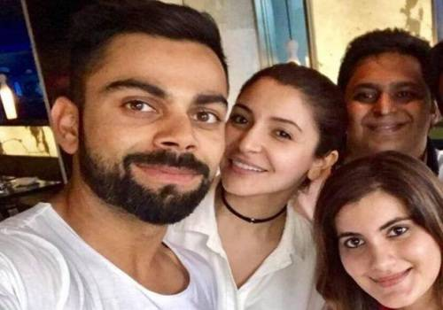 virat and anushka with family and friends