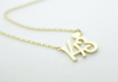 Heart necklaces with numbers written on them are wonderful gift ideas