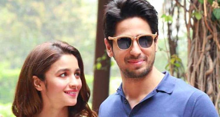 Alia and Siddharth in a shoot