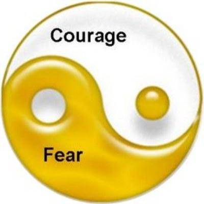 Courage and fear together
