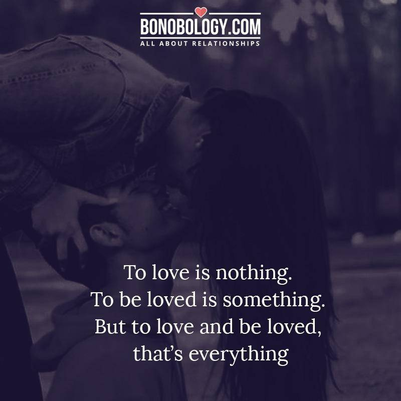 Love and be loved