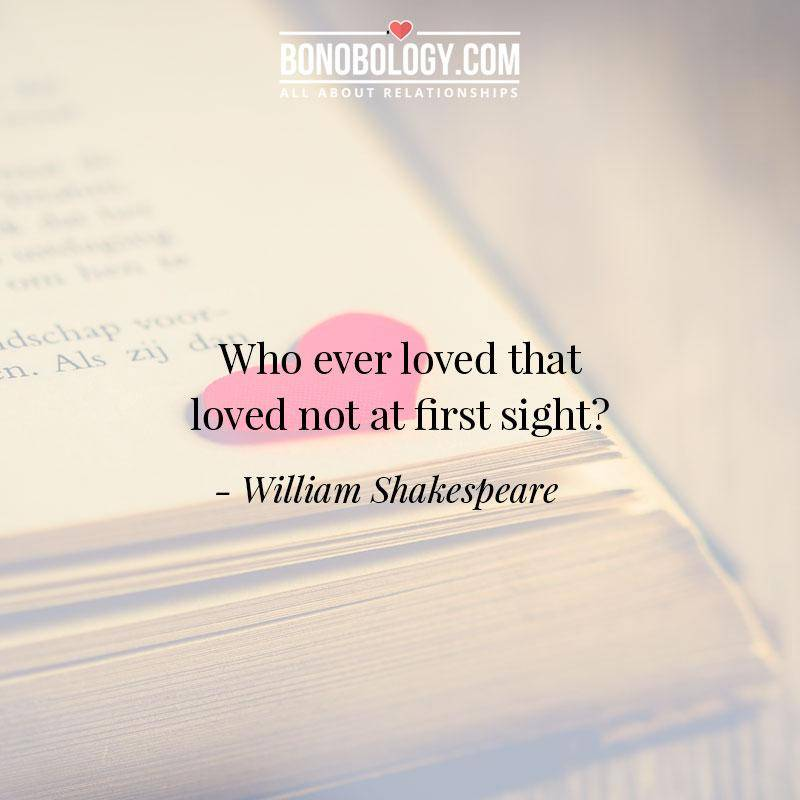 William-Shakespeare on love at first sight