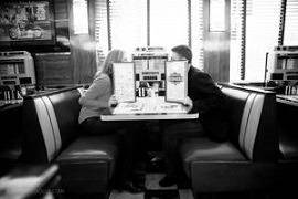 couple at diner