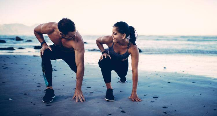 couple doing exercise together