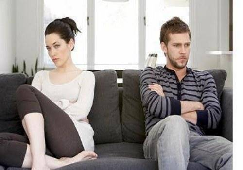 couple not talking to each other