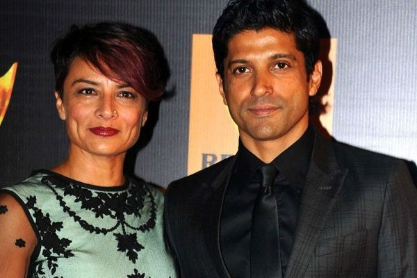 farhan akhtar with his wife