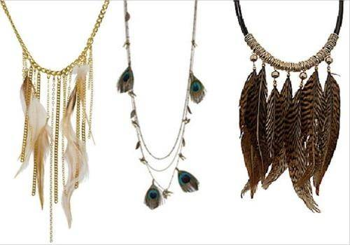 Feather necklaces are great gift ideas