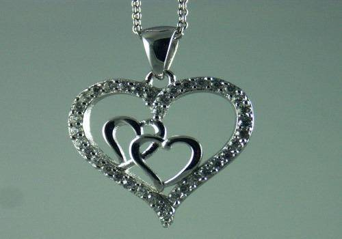 Heart inside heart necklaces are great gift ideas