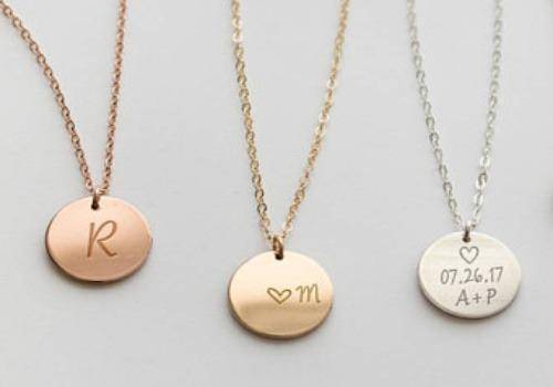 Initial necklaces are great gift ideas