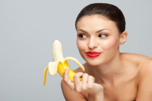 lady with banana in hand