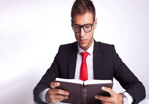 man doing business-reading
