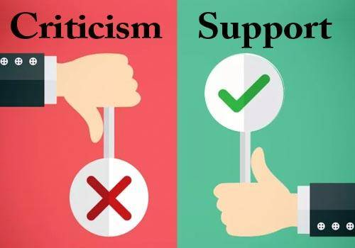 Criticism vs. Support