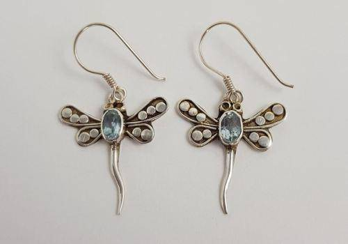 Dragonfly earrings stand for strength and courage.