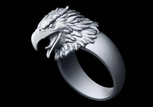 Eagle rings stand for strength and courage.
