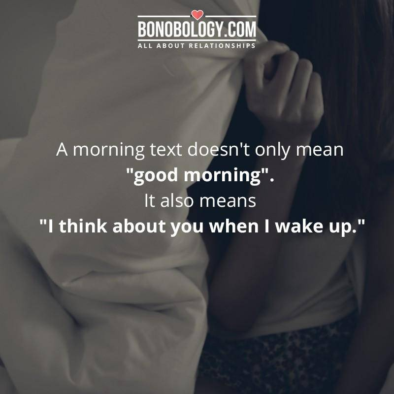 I think about you when I wake up