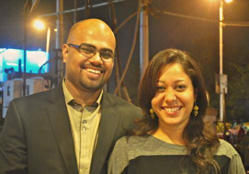 Krishanamurthy-with-his-wife