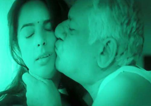Mallika Sherawat and Om Puri in Dirty Politics