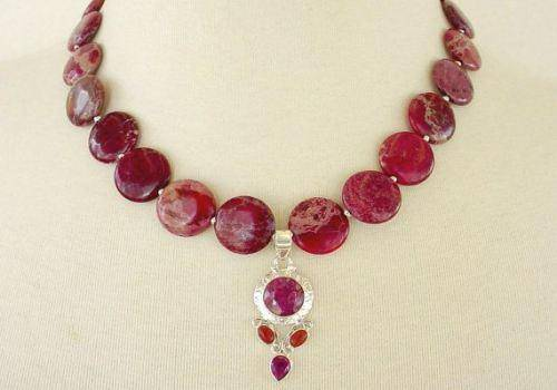 Red gemstone jewellery