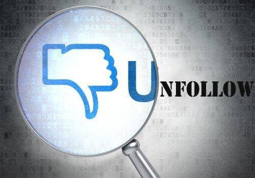 Unfollow on social media