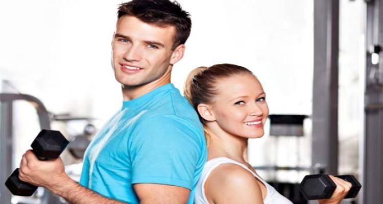 couple doing gym