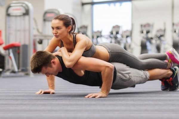 couple doing workout together