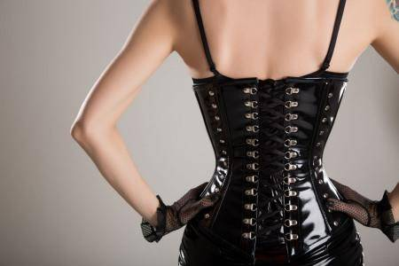 lady in corset