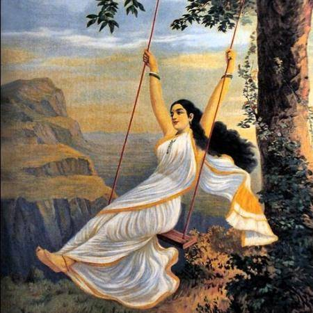 lady swinging in mythology