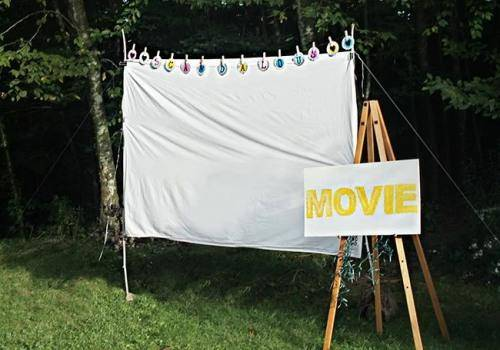 movie screening in backyard