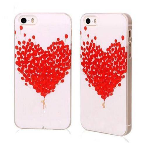 red heart phone cover