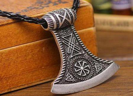 viking axe pendant stands for strength and courage