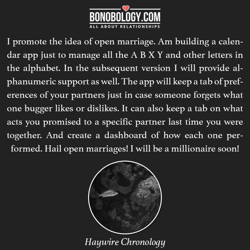 Hail open marriages!