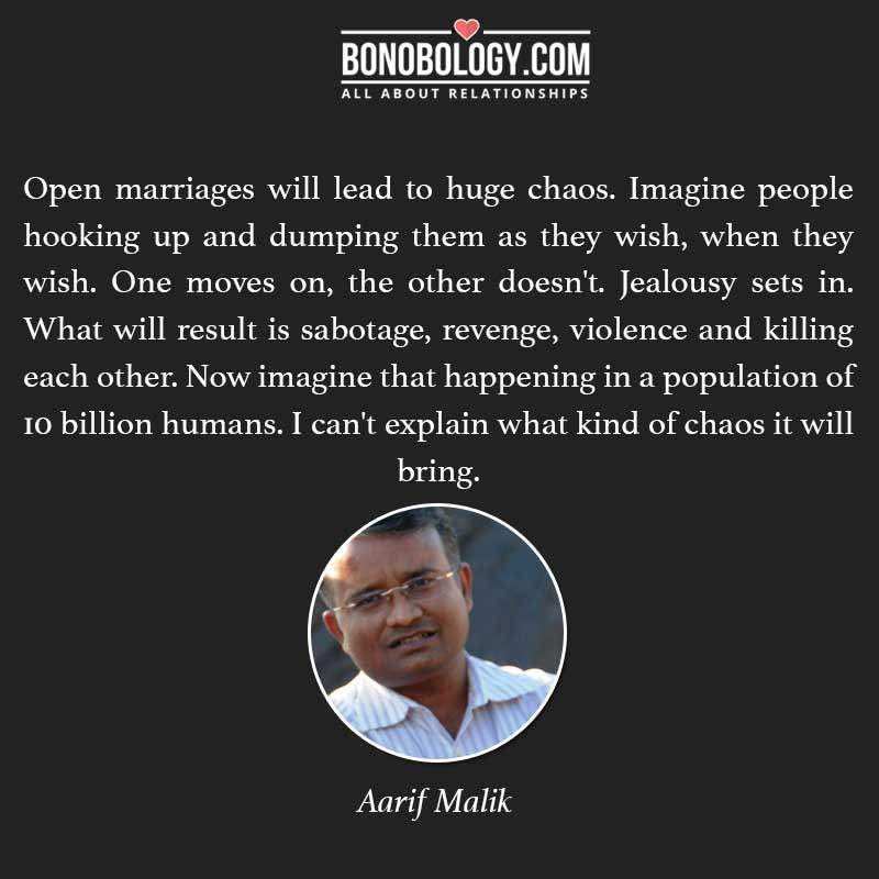 Open marriages lead to chaos