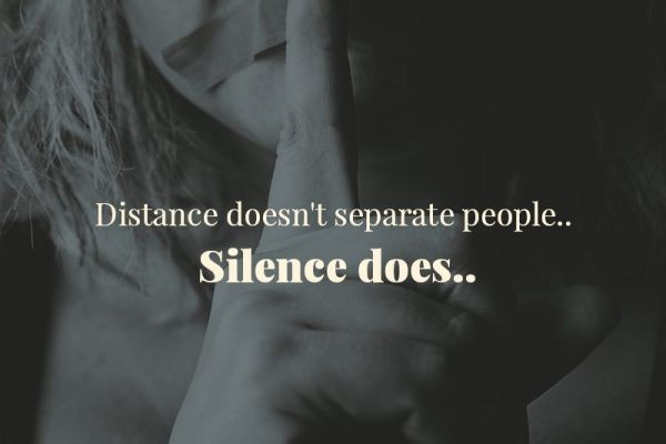 Silence separates people