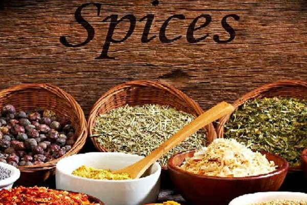 Spices-on-Wood-Table
