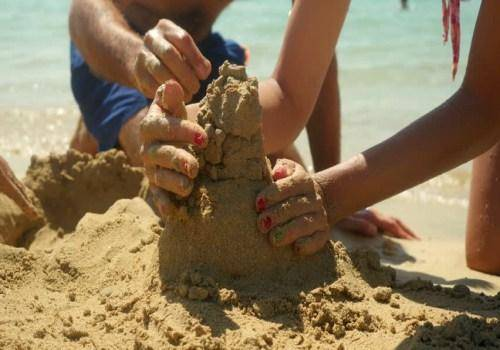 couple making home in sand