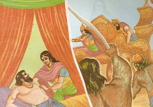 King Dasaratha had given Kaikeyi two boons which she kept for a later day
