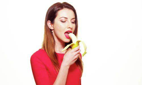 lady with banana